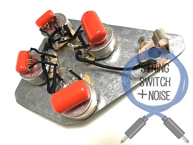 Gibson) Firebird Wiring Harness, Treble Bleed, No Load Tone, Reverb