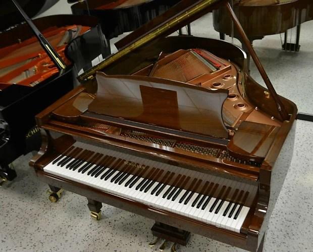 Schiller Concert Grand Piano 510 Walnut Polish Reverb