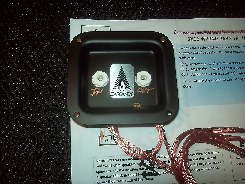 EarCandy 2x12 guitar speaker cab parallel wiring harness W Reverb