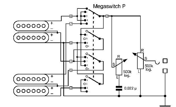 schaller pickup wiring diagram