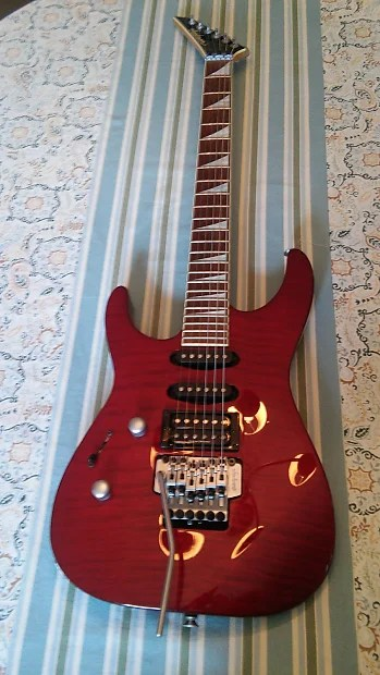 Jackson LEFTY DK2 2000 Trans Red Reverb