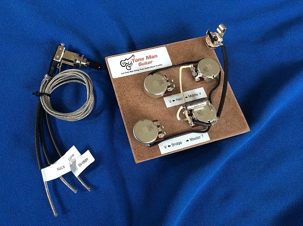 50\u0027s Wiring Harness For Gibson Les Paul 3 Pickup Long Reverb