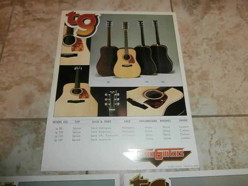 Vintage 1970\u0027s Tama Guitars Catalog Sheets! TW, TC, TG Reverb