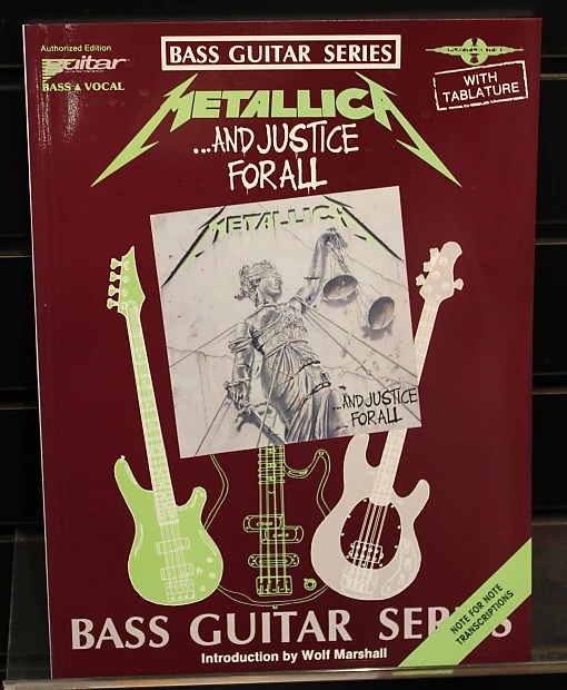 Metallica \u2013And Justice for All Bass Guitar Tab Songbook Reverb