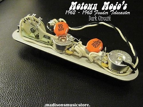 REPRO 1962 - 1965 Dark Circuit Wiring Harness FOR Tele Reverb