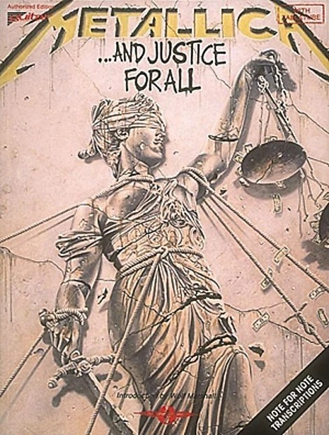 Metallica And Justice For All Guitar Tab Sheet Music Book Reverb