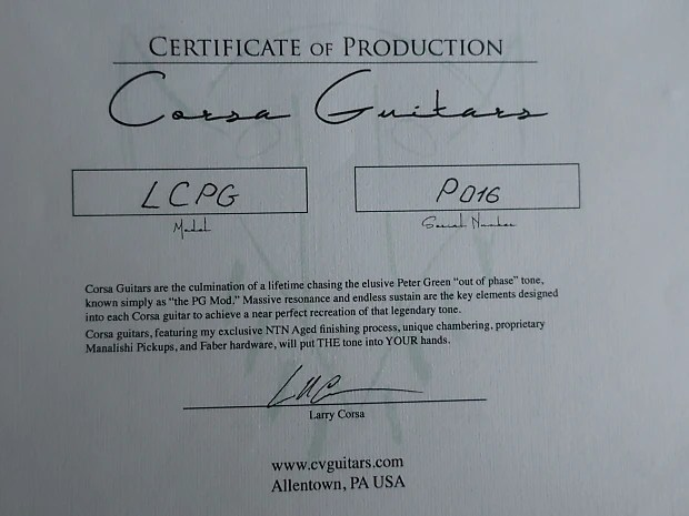 Corsa Gibson Les Paul LCPG Conversion - Jimi Page Wiring Reverb