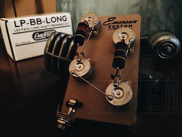 Emerson Custom Les Paul Prewired Kit / Wiring Harness Reverb