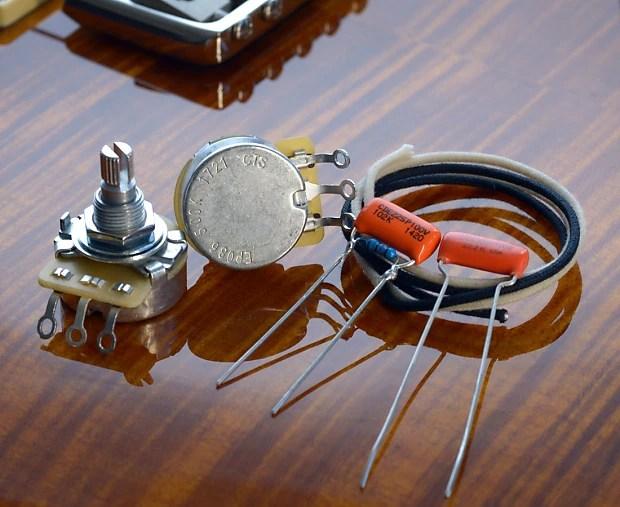 PRS SE Santana Essentials Wiring Kit CTS, Orange Drop, Reverb