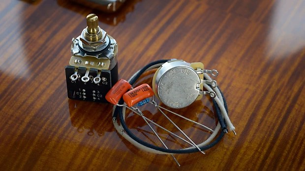 PRS SE Custom 24 Essentials Wiring Kit CTS, Orange Drop, Reverb