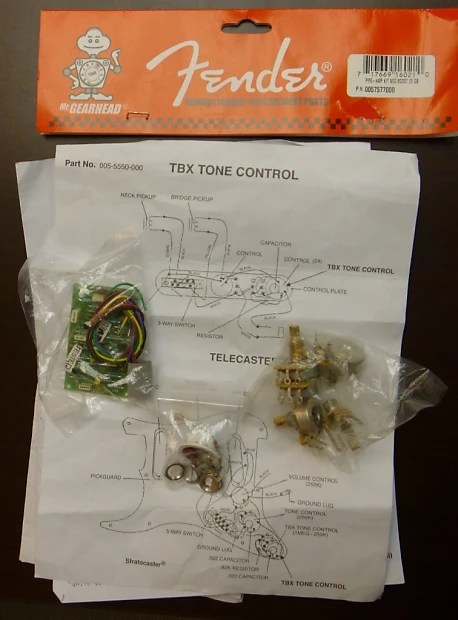 Fender TBD Tone Control mid boost preamp kit - clapton type Reverb