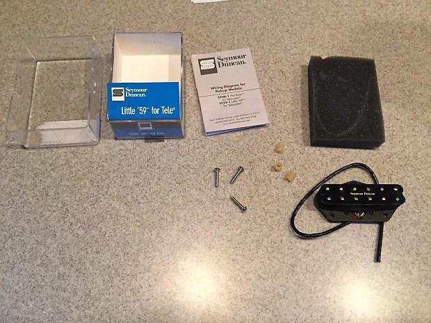 New Seymour Duncan Little \u002759 for Tele Black (open box) Reverb