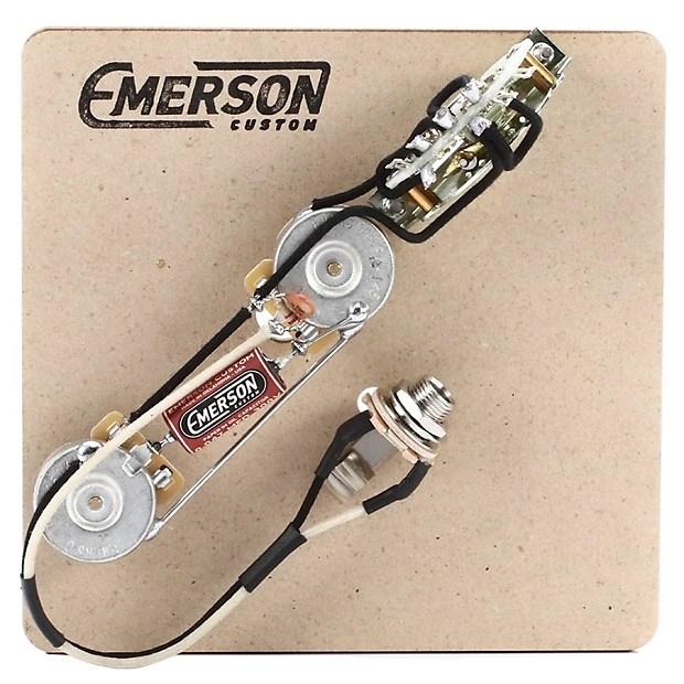 Emerson Custom 4-Way 250k Prewired Tele Wiring Harness Reverb