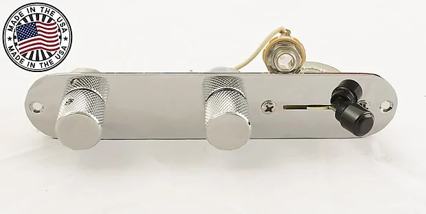 Telecaster Wiring Harness For Fender Tele w/Control Plate Reverb