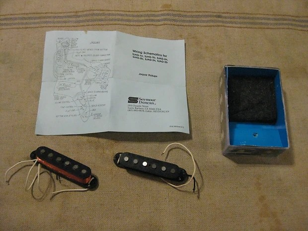 Seymour Duncan SJAG1N  SJAG1B Hot Jaguar Pickups Used Reverb