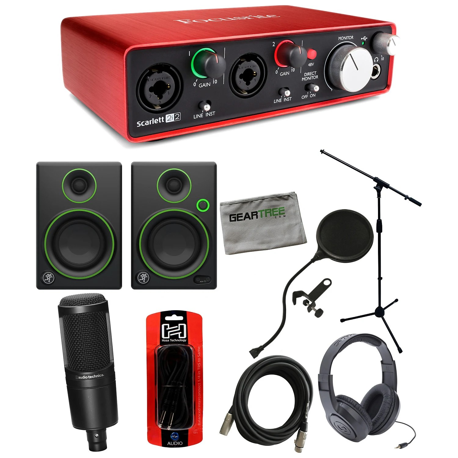 Scarlett 2i2 Focusrite Scarlett 2i2 Usb 2nd Gen Audio Interface Bundle Red