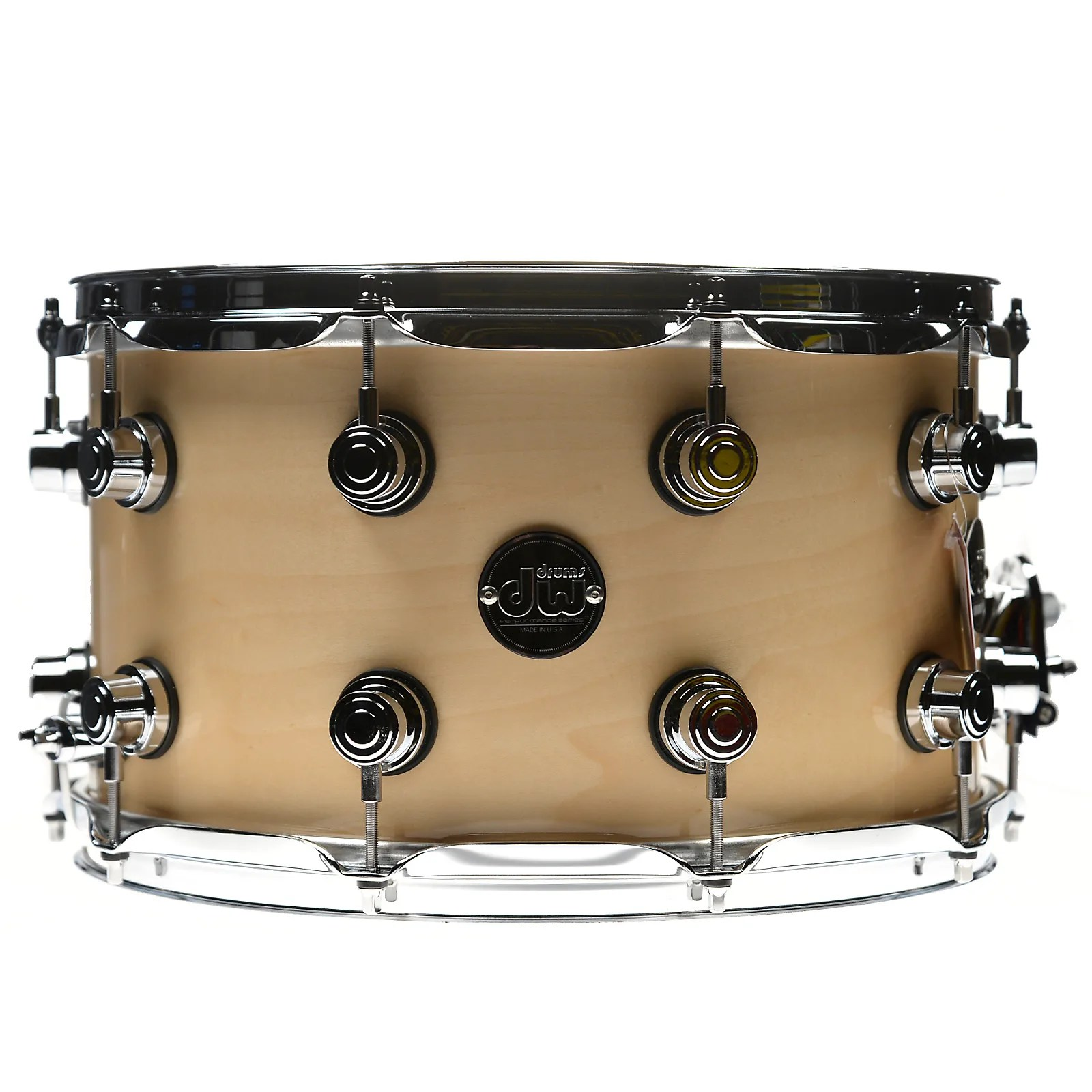 Dw Shop Dw 8x14 Performance Snare Drum Natural Lacquer