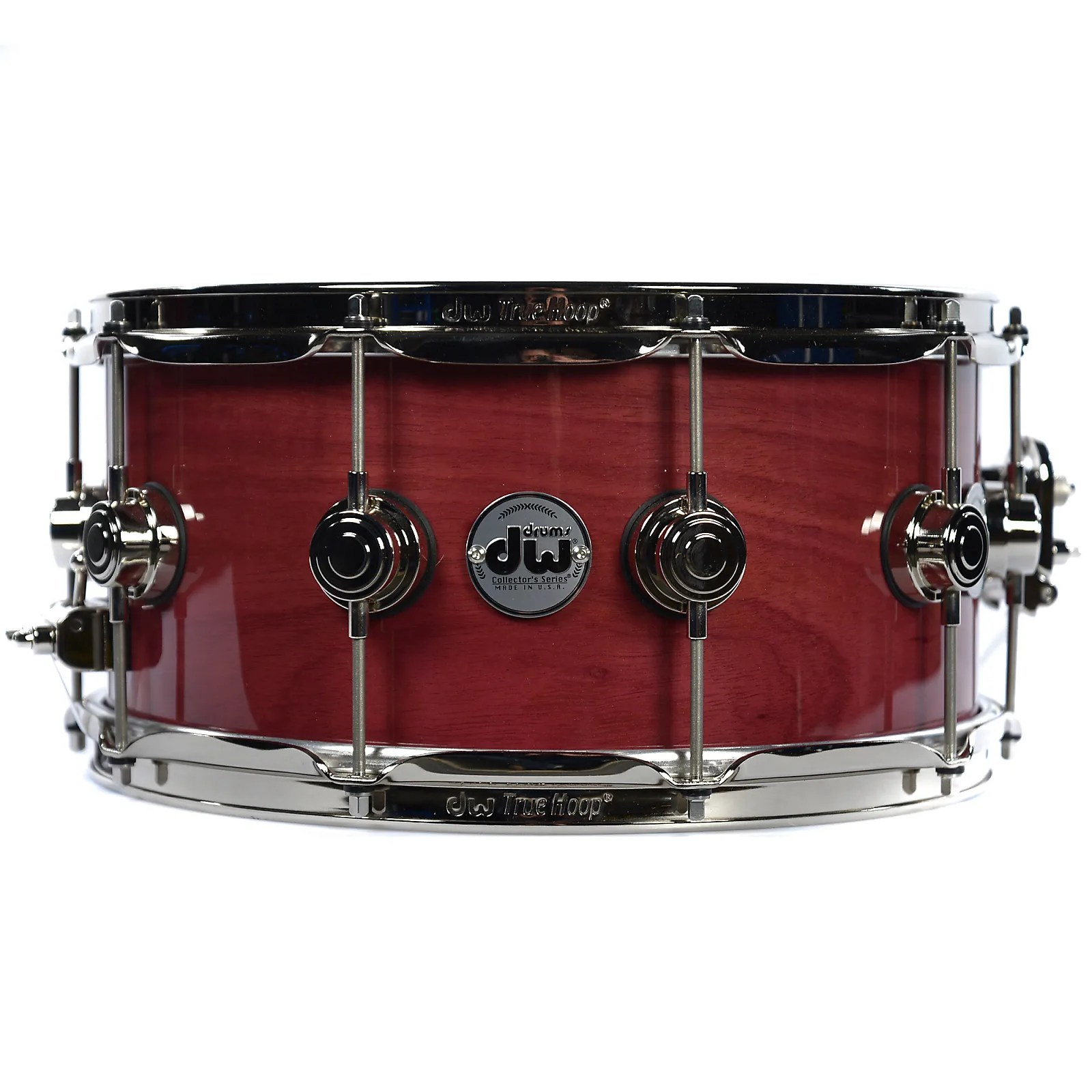 Dw Shop Dw Collector S Purple Heart 6 5 X 14 Lacquer Custom Snare Drum Nickel Hardware