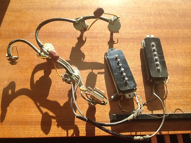 Vintage Gibson 1967 P-90 Complete Wiring Harness 1967 ES-330, SG Special  And More