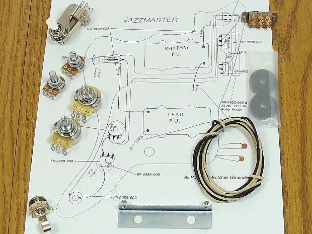 NEW Jazzmaster Pots Switch  Wiring Kit for Fender Guitar Reverb
