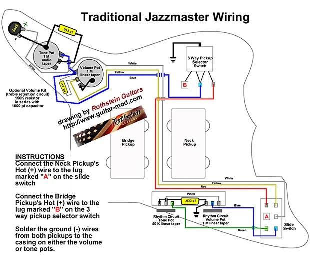 Rothstein Guitars Premium Vintage Jazzmaster DIY Upgrade Kit Reverb