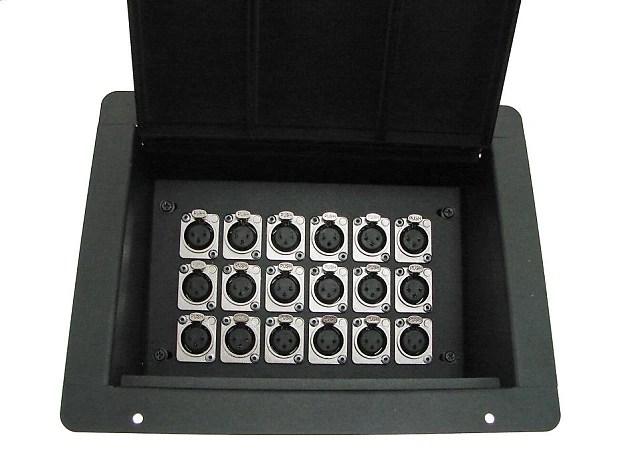 Procraft Pro Audio Stage Recessed Pocket Floor Box 18