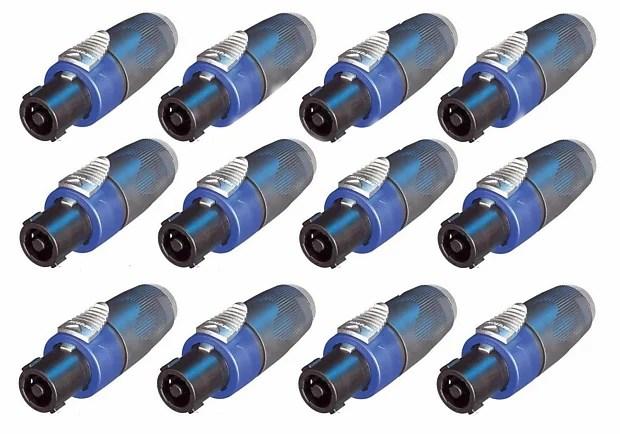 12 Pack) Genuine Neutrik NA4LJX Speakon Connector Adapter Reverb