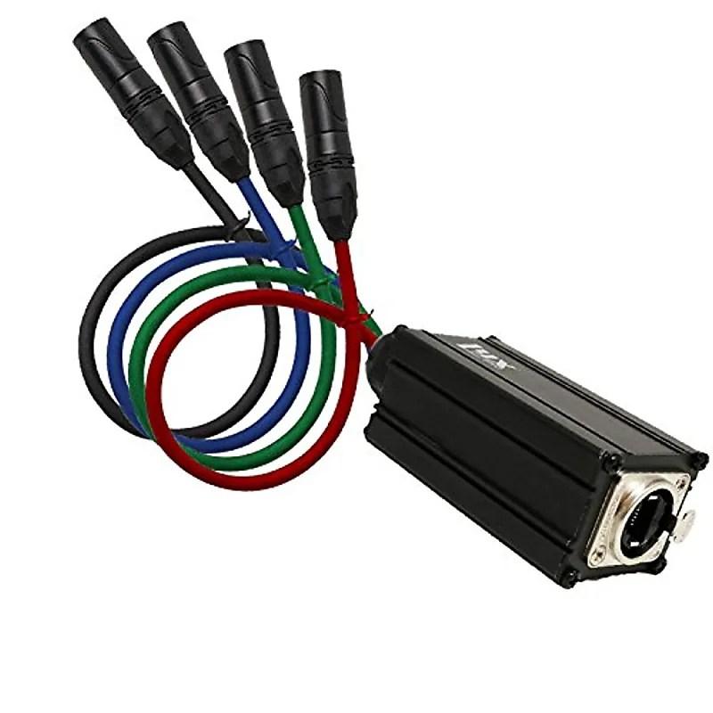 LyxPro 4-Channel XLR Professional 3-Pin Multi Network Reverb