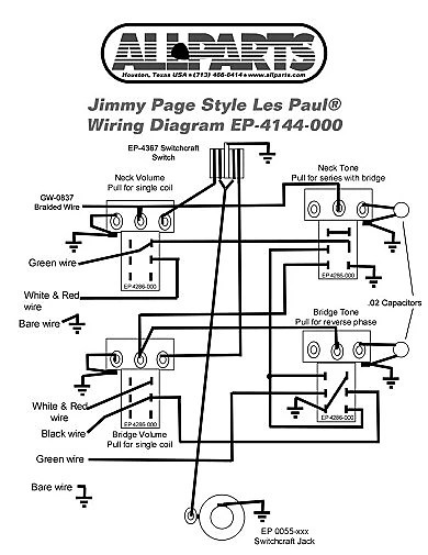 Allparts Jimmy Page Wiring Kit Reverb