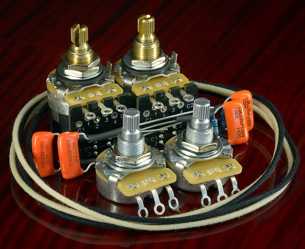 PRS SE 245 Essentials Split Coil Wiring Kit CTS, Orange Reverb