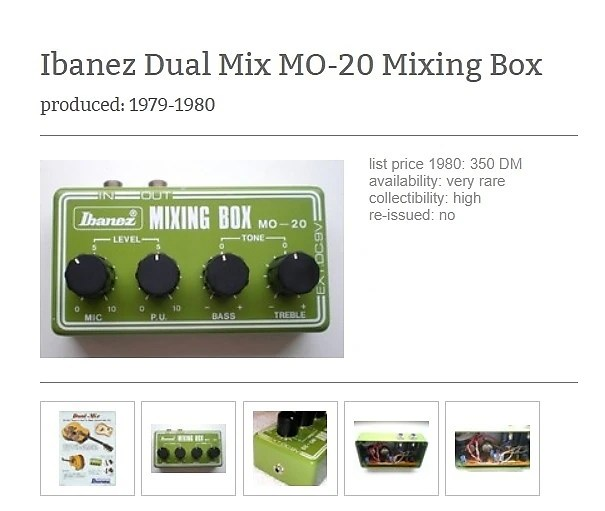 Ibanez Mixing Box MO 20 Vintage ! VERY RARE! Reverb
