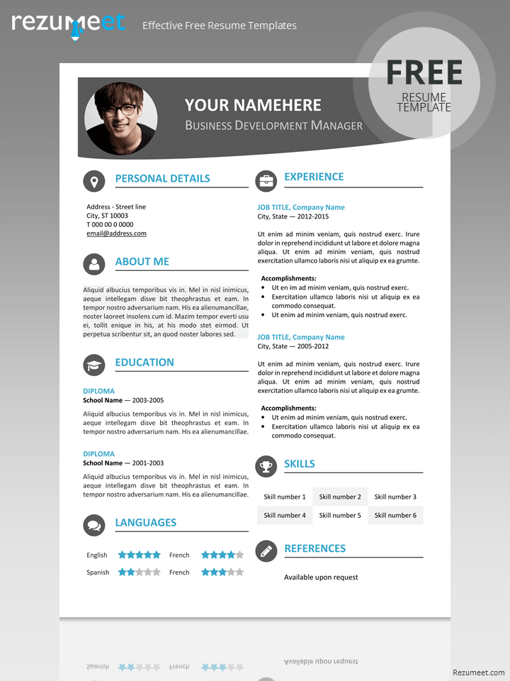 Download Resume Format Write The Best Resume Hongdae Modern Resume Template