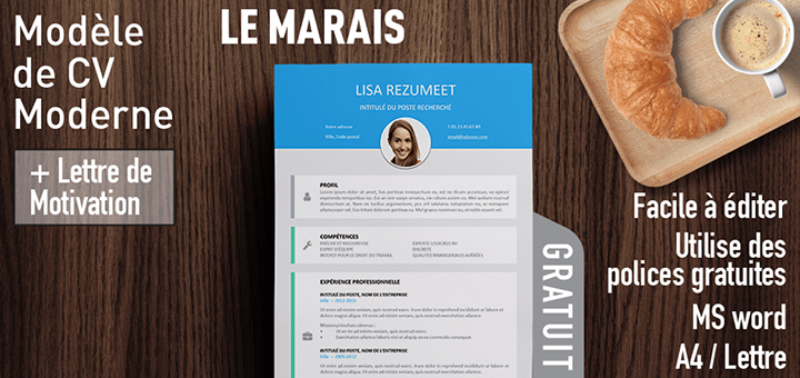 photo modele de cv design lettre de motivation