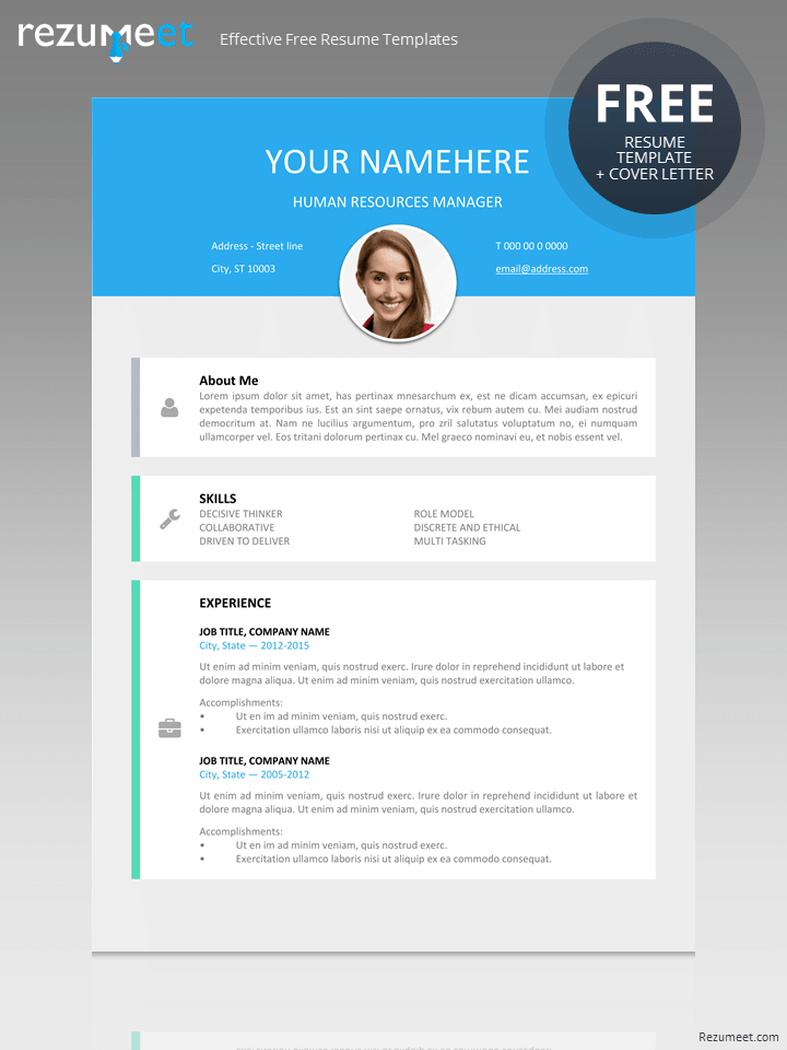 clean modern resume template free