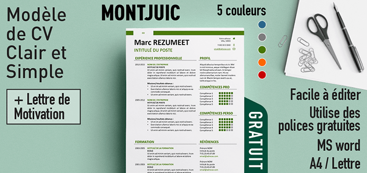 creation cv gratuit simple