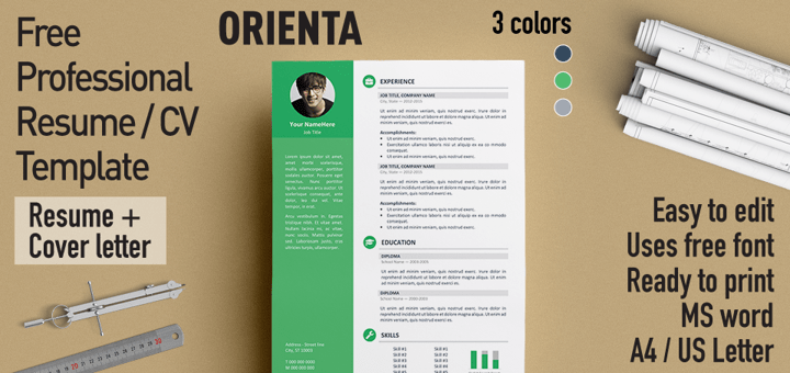 cv resume template word with gray boxes