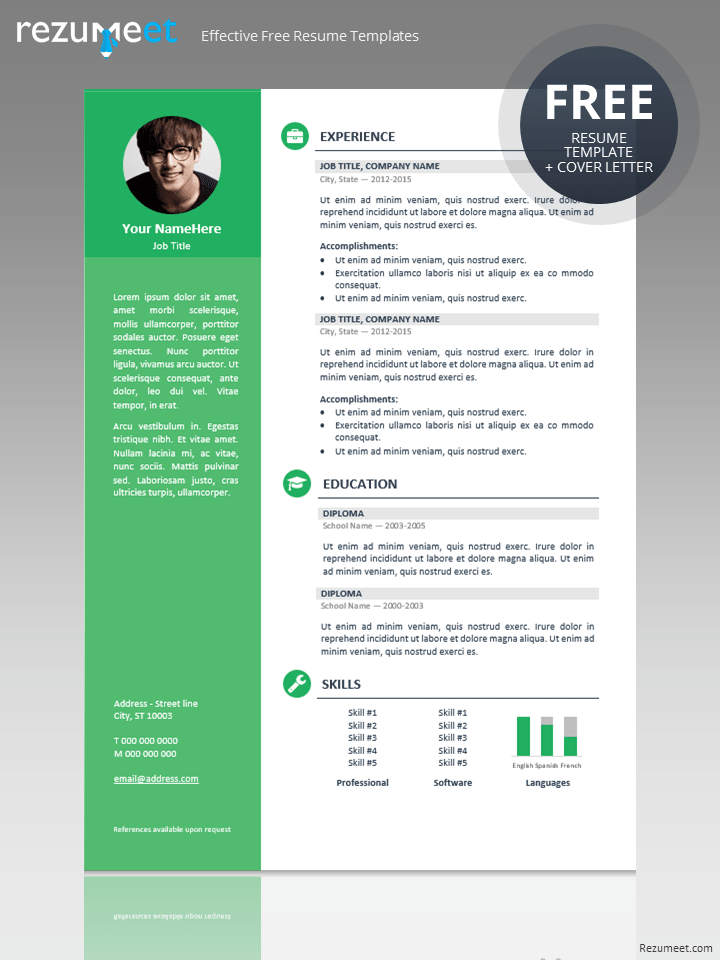 Cv Templates And Guidelines Europass Orienta Free Professional Resume Cv Template