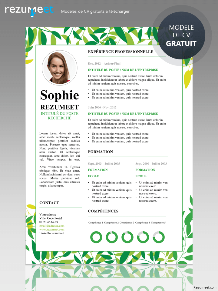 modele de cv powerpoint nature