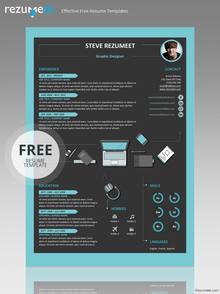 creative cv template free download word
