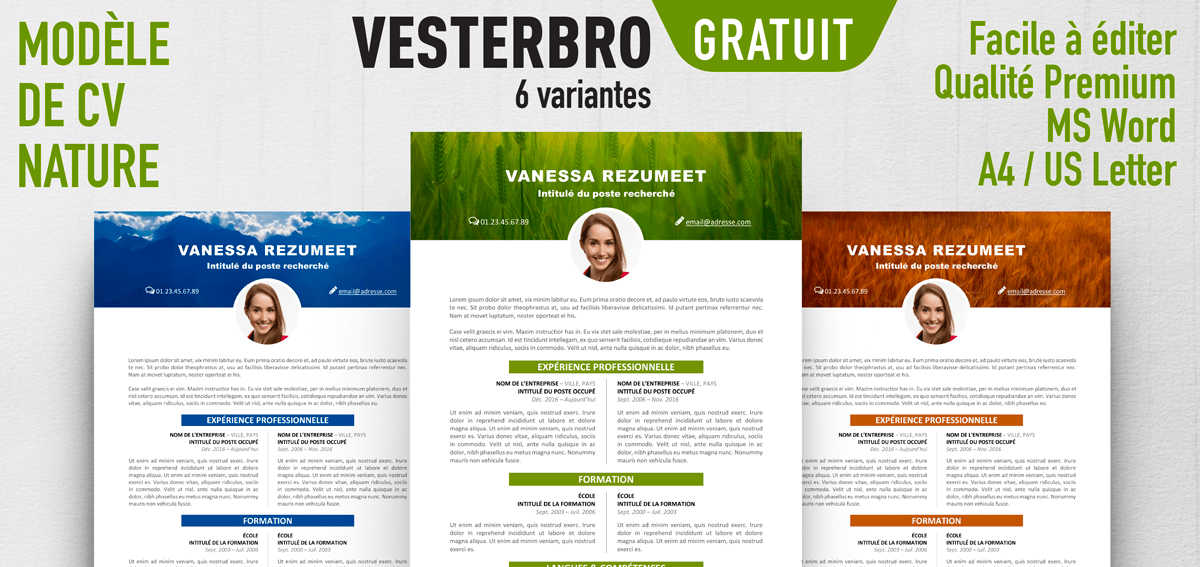modele cv theme nature