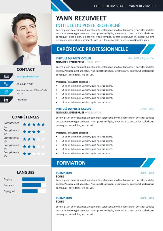 cv manutentionnaire word