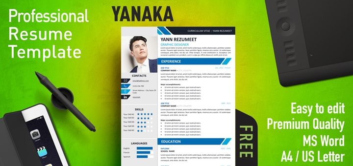 Yanaka - Professional Resume Template - resume template website