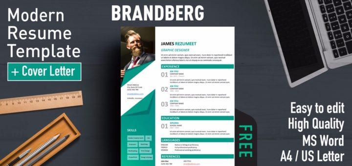 Brandberg - Modern Resume Template