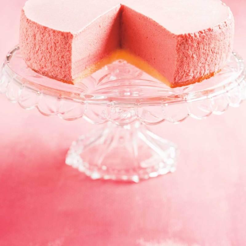 Large Of Strawberry Mousse Cake