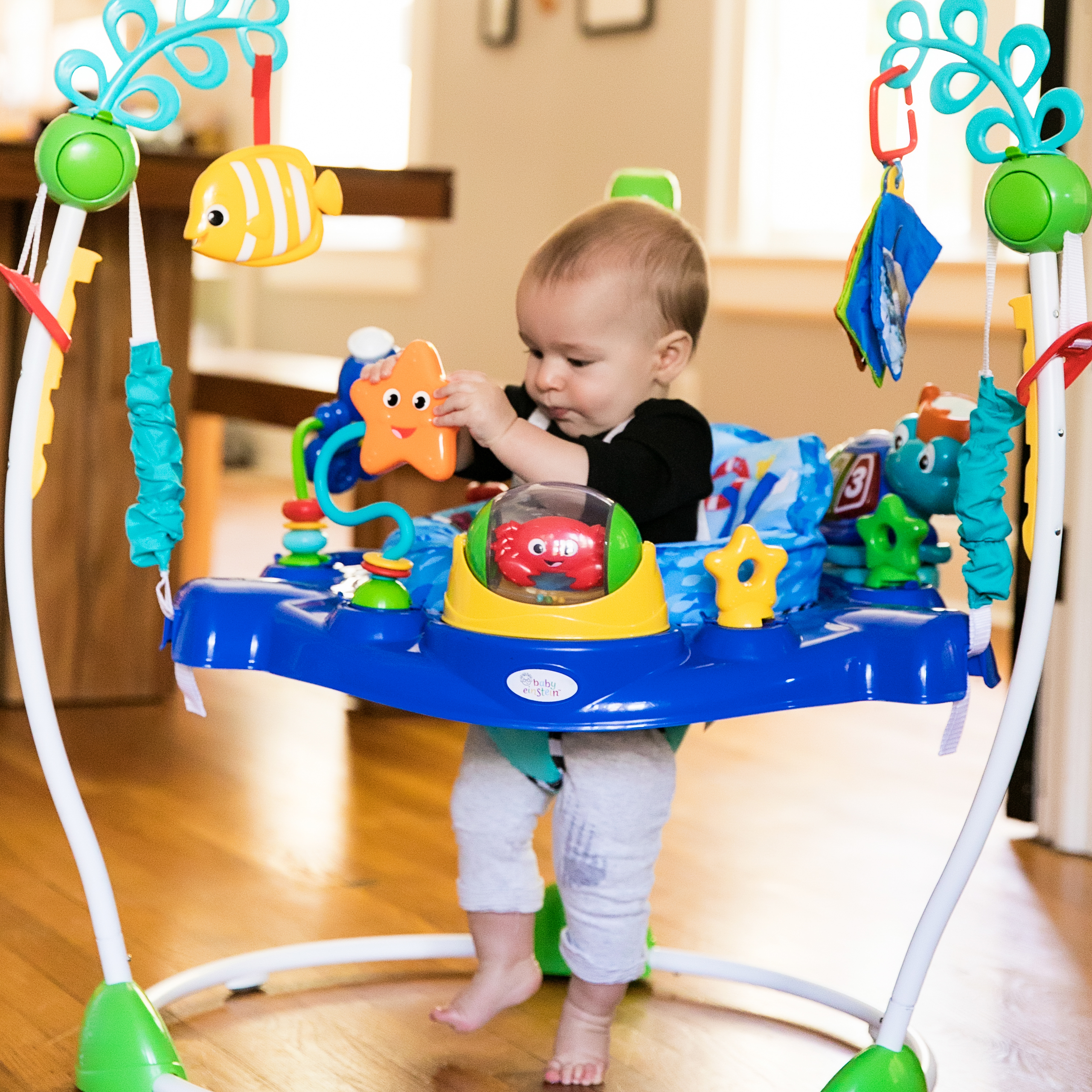 Baby Einstein 3 In 1 Jumper And Activity Mat Colors Of The Ocean Neptune 39s Ocean Discovery Jumper