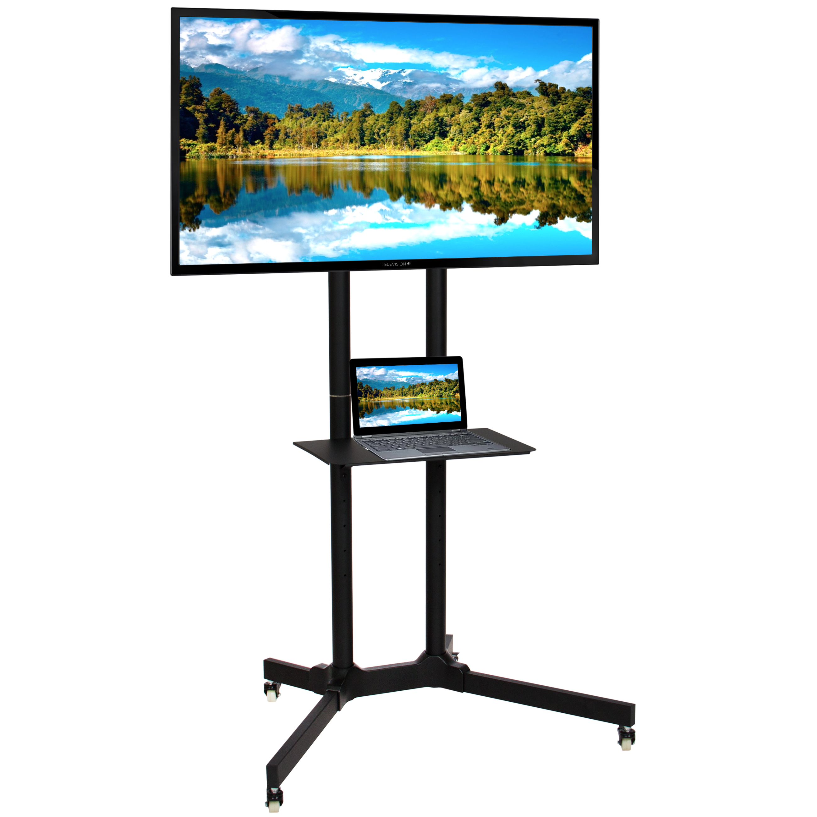 Tv Stand With Wheels Flat Panel Tv Stand Mobile Tv Cart W Wheels 32 Quot 65