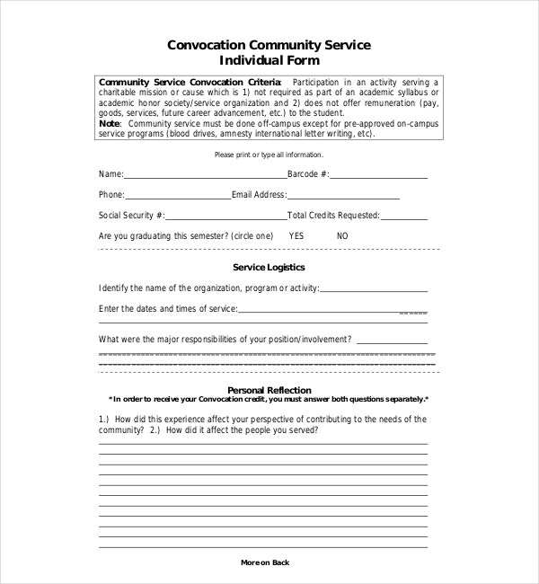 Community Service Letter Community Service Letter For Court