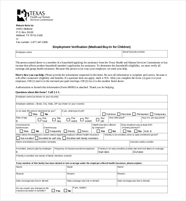 texas health and human services self employment form - Anta