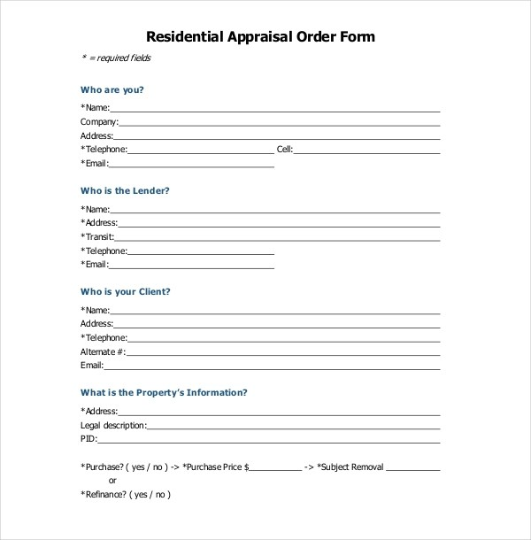 Appraisal Form Sample Questions Employee Appraisal Form Template Sample Form  Biztree Sample Appraisal Order Forms 7