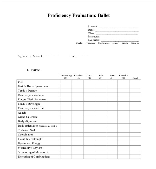 17+ Sample Student Evaluation Forms Sample Forms